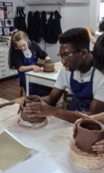 Students coiling
