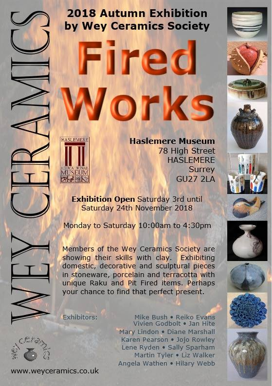 Fired Works Wey Ceramics Society Exhibition