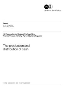 Front cover: NAO report 'The production and distribution of cash'. Click on the image to go to the NAO website.