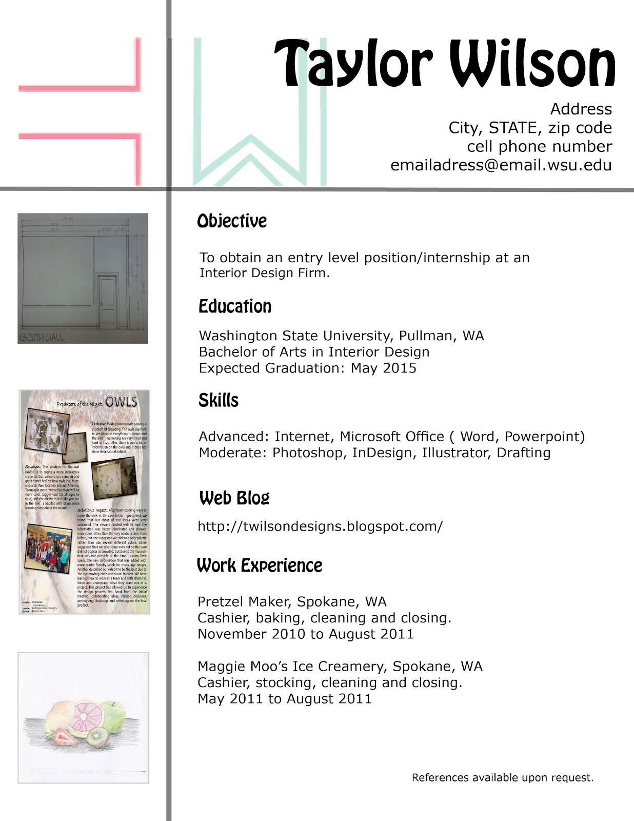 Interior Design Resume Format Present And Promote Martinyordanov1221889