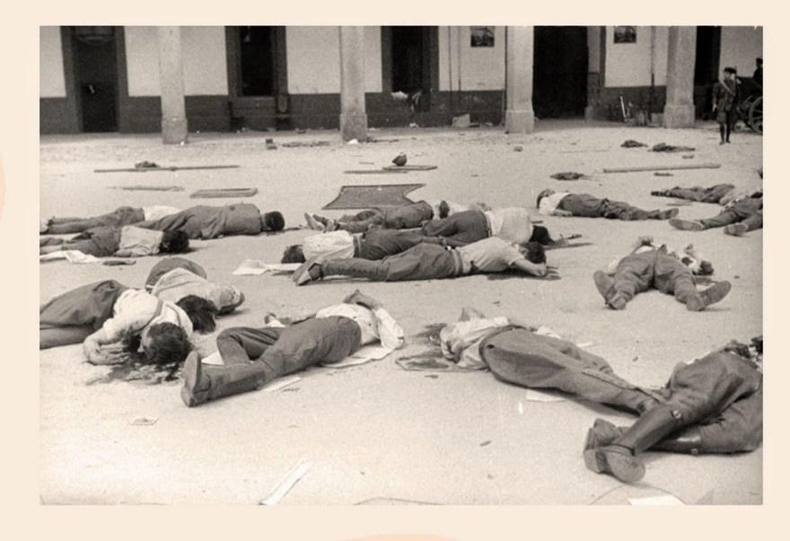 Ejecutados en el Patio del Cuartel de la Montaña tras su rendición el 20 de julio de 1936.