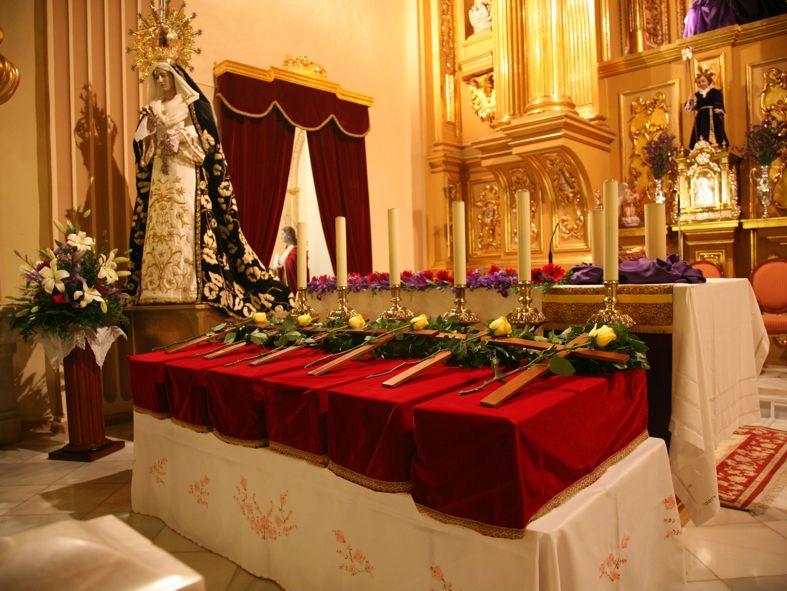 Traslado de restos de seis mártires en la Parroquia de San Juan Bautista de Archena, 19.3.2011.