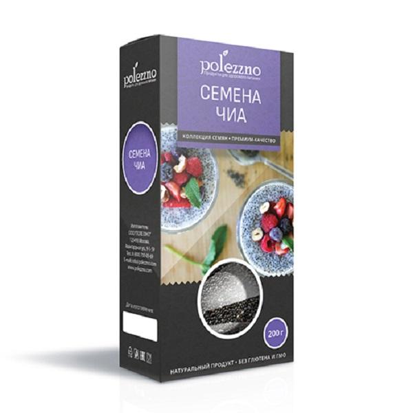 Семена чиа Polezzno, Банка пластиковая 200 г., Россия