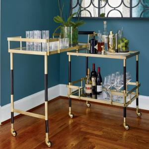 Farrow Swivel Bar Cart