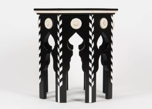 Pasha Side Table With Faux Ivory