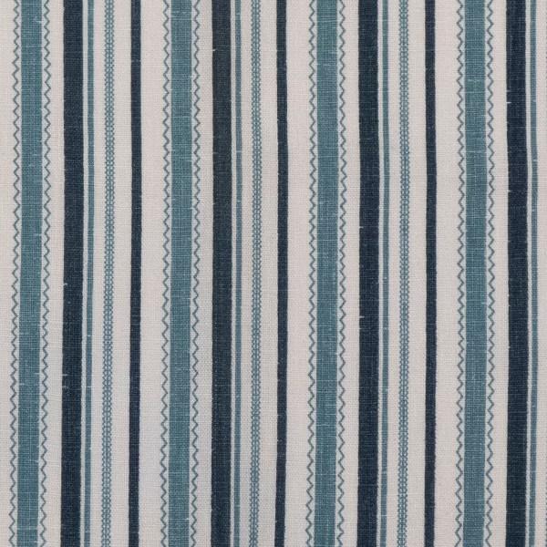 Turkish Ticking blue indoor fabric by Martyn Lawrence Bullard