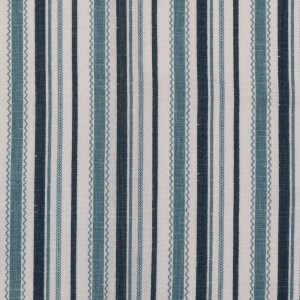 Turkish Ticking blue indoor fabric by Martyn Lawrence Bullard