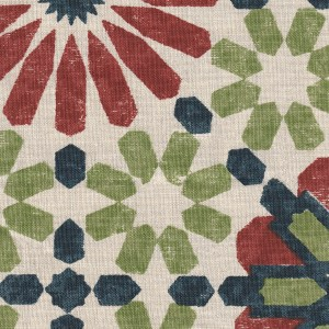 Marrakesh Original red green indoor fabric by Martyn Lawrence Bullard