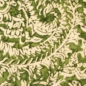 Taman Paisley green indoor fabric by Martyn Lawrence Bullard