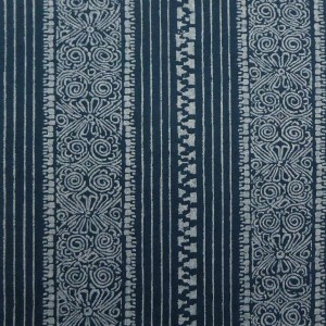 Eros Stripe Indigo indoor fabric by Martyn Lawrence Bullard