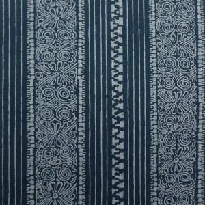 Eros Stripe Indigo indoor fabric by Martyn Lawrence Bullard