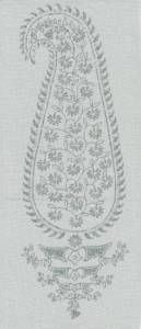 Patka Paisley sage indoor fabric by Martyn Lawrence Bullard