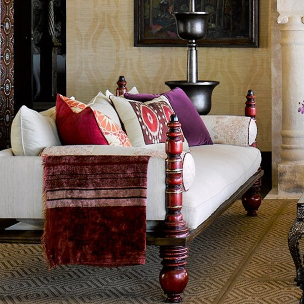 Fez Border Sunset red indoor fabric by Martyn Lawrence Bullard