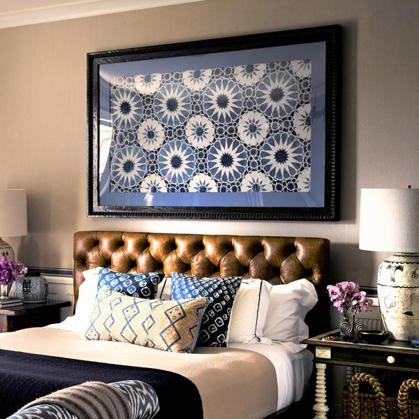 Shambala Indian Ocean indoor fabric, designed by Martyn Lawrence Bullard