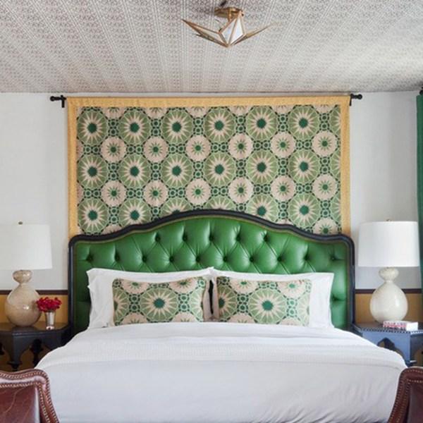 Shambala Verde indoor fabric at Casa Laguna, designed by Martyn Lawrence Bullard