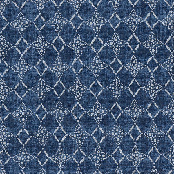 Cameroon indigo indoor fabric by Martyn Lawrence Bullard