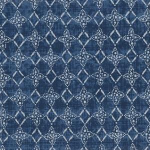Cameroon indigo indoor fabric by Martyn Lawrence Bullard