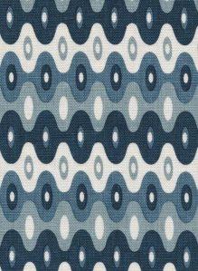Kubla Mini ocean indoor fabric by Martyn Lawrence Bullard