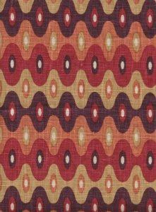 Kubla Mini eggplant indoor fabric by Martyn Lawrence Bullard