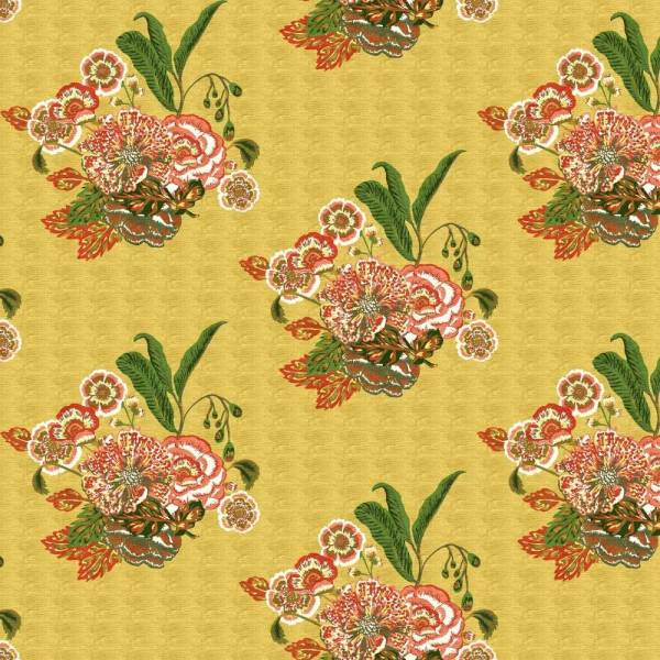Bahia Bouquet saffron indoor fabric by Martyn Lawrence Bullard