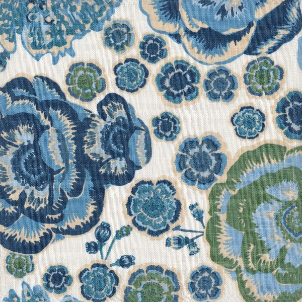Rio blue indoor fabric by Martyn Lawrence Bullard