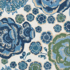 Rio blue indoor fabric by Martyn Lawrence Bullard