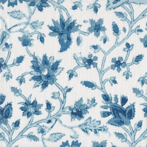 Iznik Vine blue indoor fabric by Martyn Lawrence Bullard