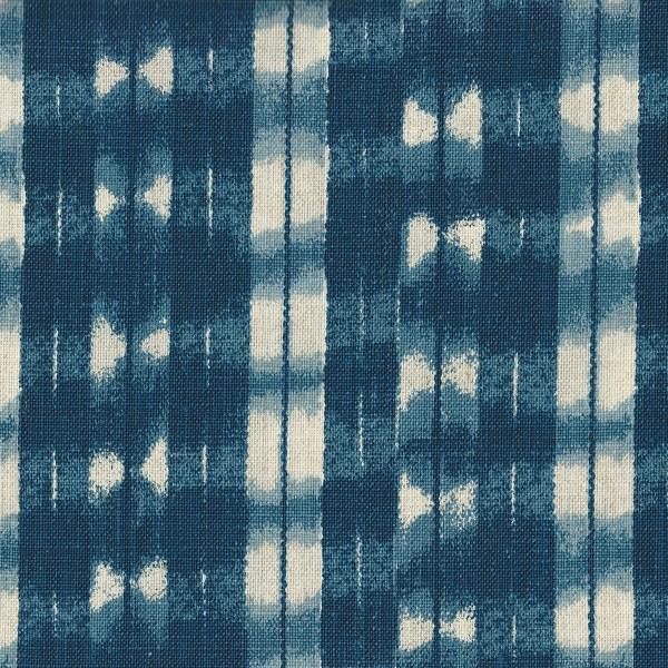 Shibori indigo indoor fabric by Martyn Lawrence Bullard