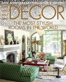 ELLE Decor cover of Martyn Lawrence Bullard's house
