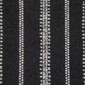 Ubud Stripe charcoal Indoor/Outdoor Performance Woven fabric by Martyn Lawrence Bullard