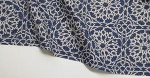 Mamounia Petite indigo Indoor/Outdoor Performance Woven fabric by Martyn Lawrence Bullard
