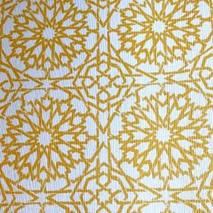 Mamounia Petite wallcovering in Saffron yellow, by Martyn Lawrence Bullard