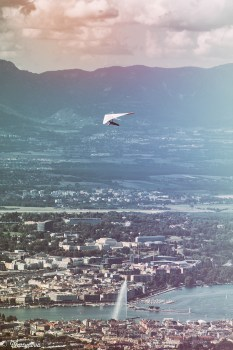 "View on Fountain in Leman (""Geneva"") Lake"