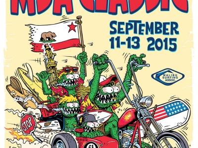 "Malibu Surfing Association ""MSA Classic 2015"" Poster design By Marty Schneider"
