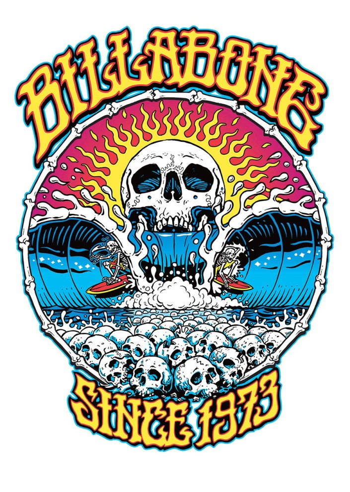 Billabong Skull Split T-Shirt Design by Marty Schneider