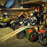 Mopeds ready for sleep