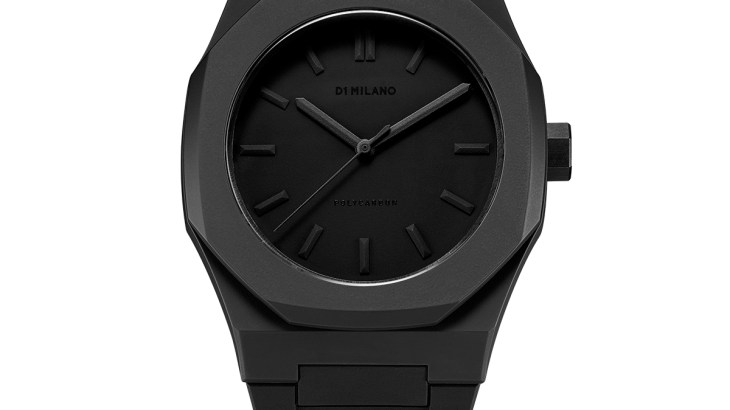 Monochrome Watch Black with rubber strap