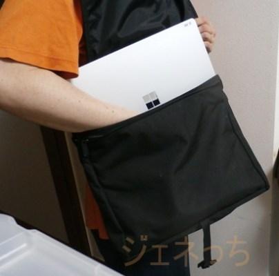 Surface Laptopバッグに入れて