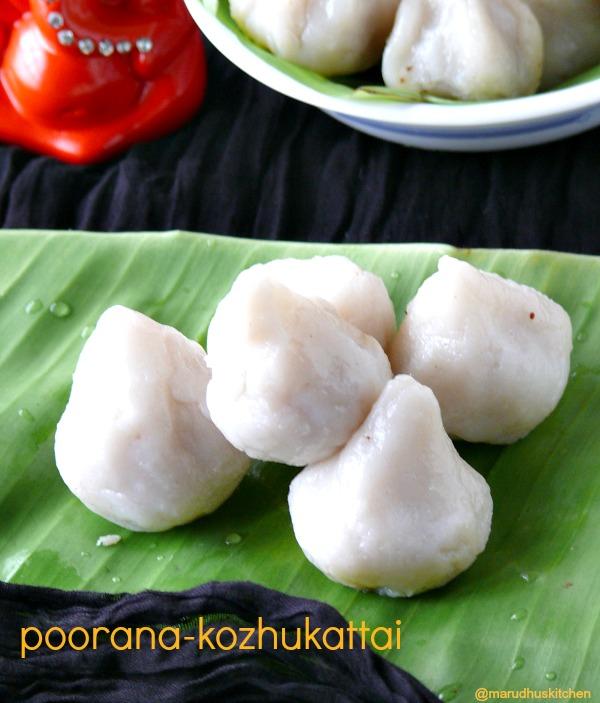 coconut(stuffed)kozhukattai recipe/sweet poorana kolukattai