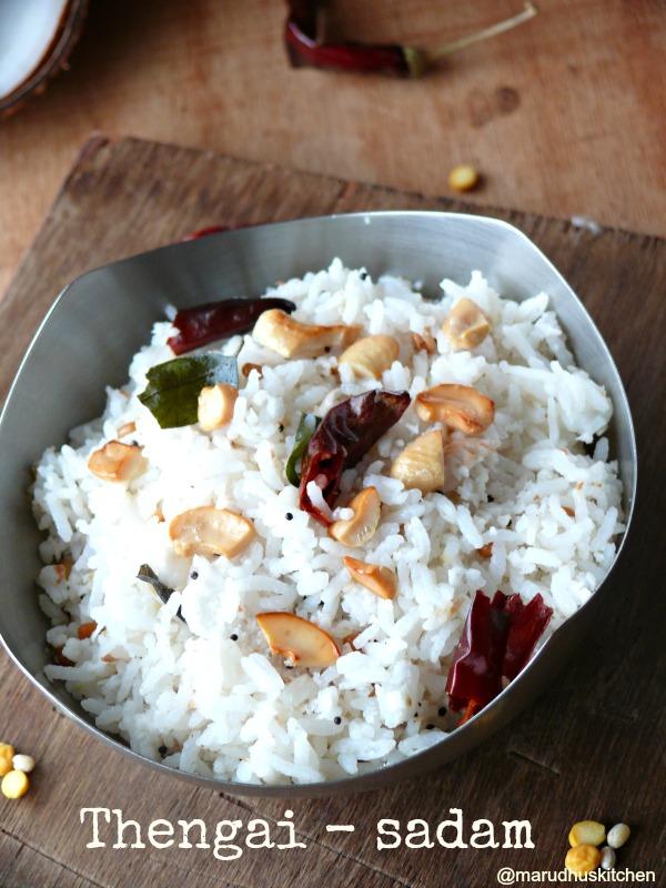 simple coconut rice recipe/(Grated)Thengai sadam