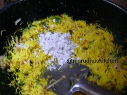 SWITCH OFF AND ADD GRATED COCONUT