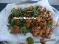 MIX CURRY LEAVES AND PEANUTS AND ENJOY