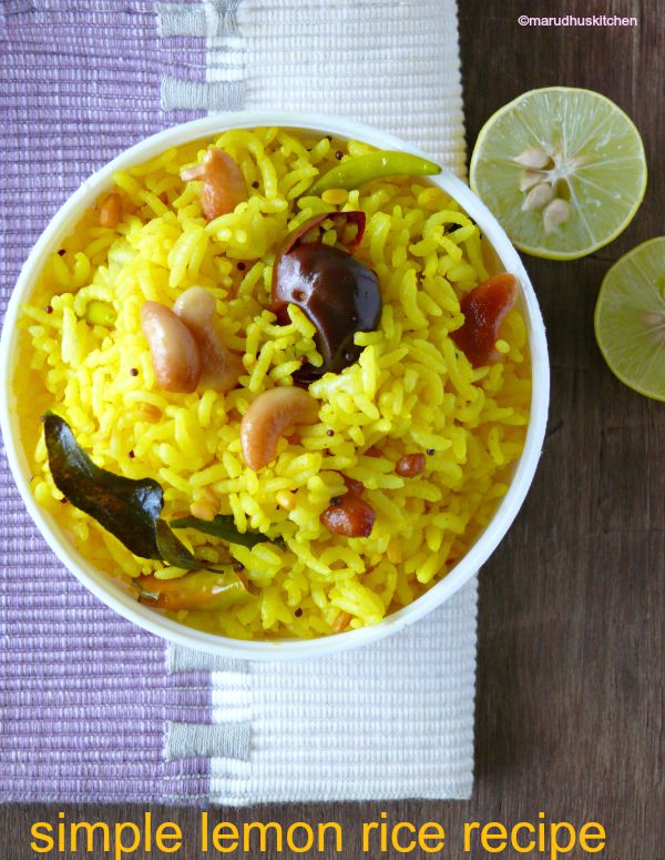 simple lemon rice /marudhuskitchen