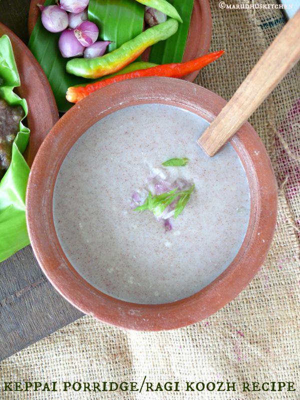how to prepare ragi koozh(fingermillet/kezhvaragu/nachani)