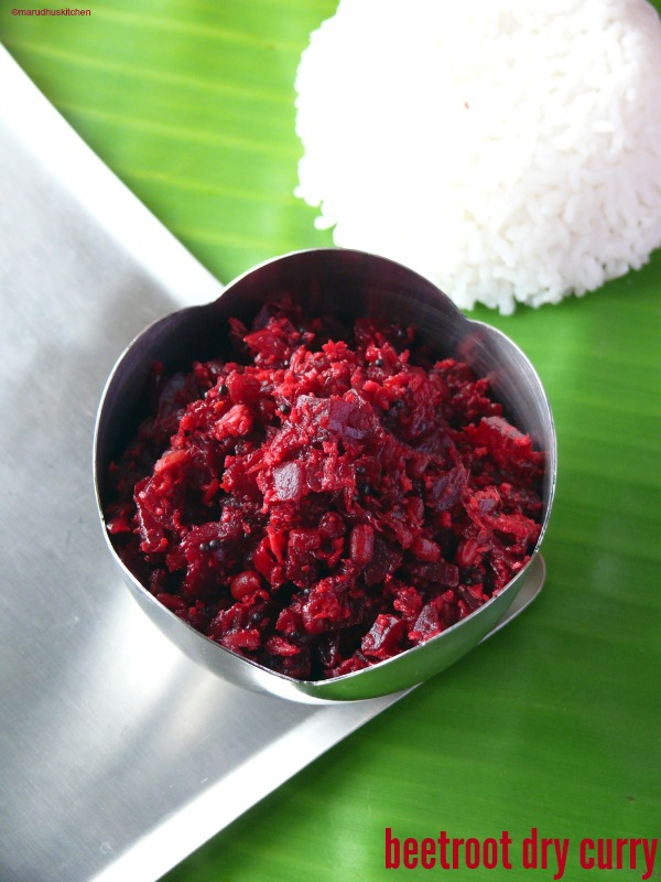 beetroot curry indian recipe (dry)/poriyal/stirfry