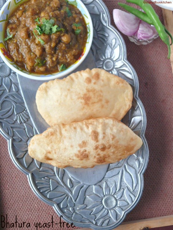 how to make famous indian bhatura /no yeast recipe