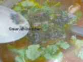 THEN ADD TADKA WITH CHOPPEDCURRY-CORIANDER LEAVES
