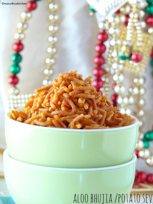 recipe for aloo bhujia /potato sev