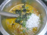 ADD TO KOOTU ADD GRATED COCONUT,SERVE