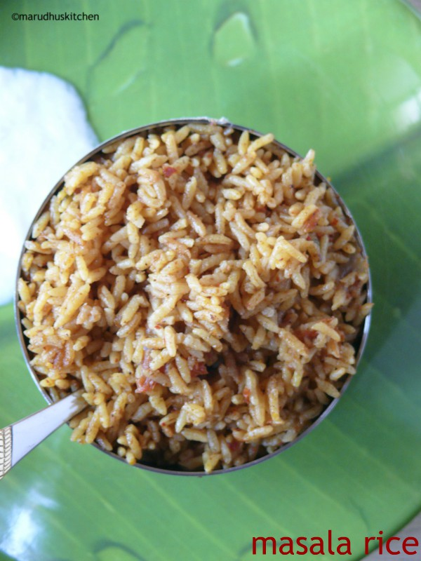 south indian masala rice recipe /masala bhat/bhaat
